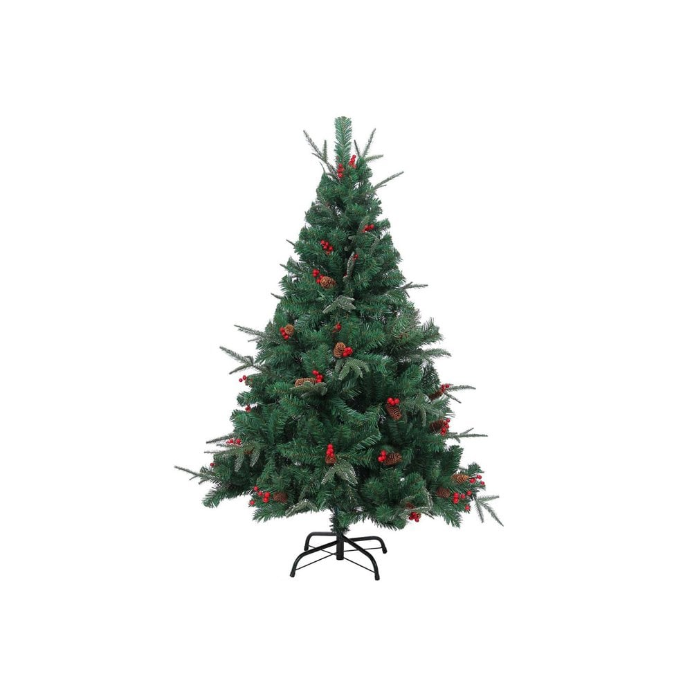 Artificial Christmas Tree With Pine Cones: Shatchi 6068 8ft Artificial Christmas Tree With Pine Cones
