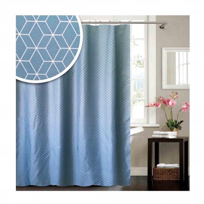 Bluecanyon SC162 Geometric Shower Curtain