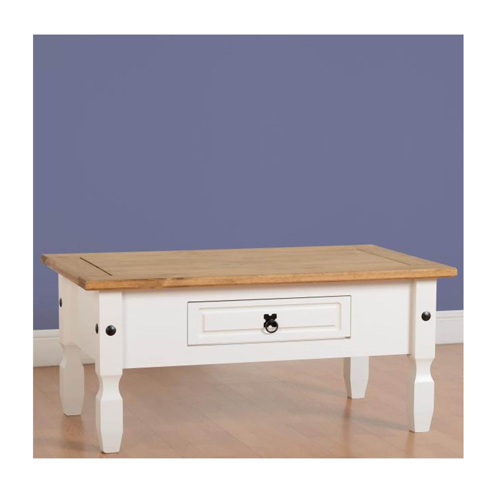 Buy Corona Coffee Table In White Waxed Pine Furniture Lisnaskea