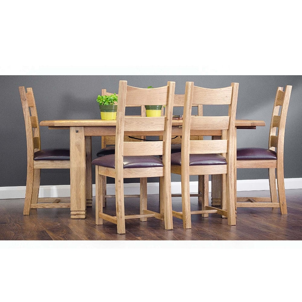 Donny 1 8m ext dining table 6 chairs