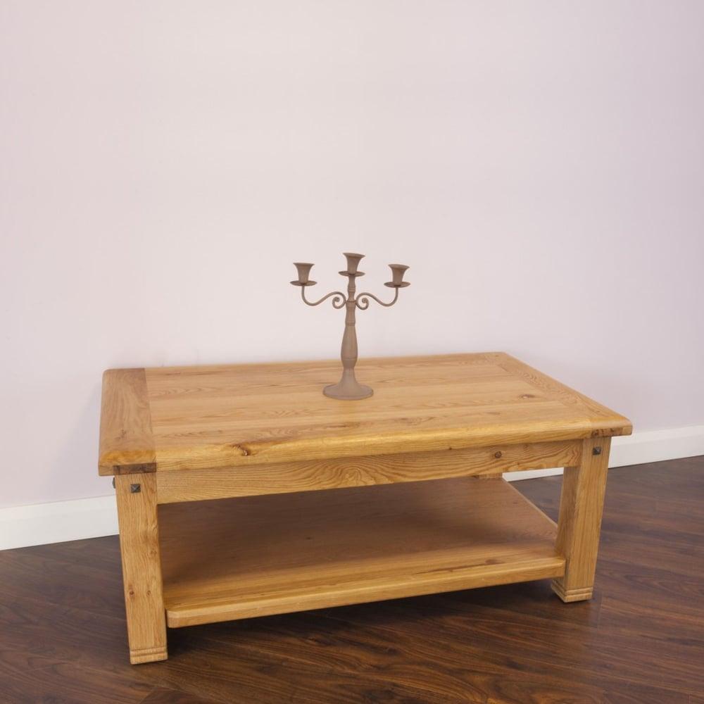 Buy Donny Solid Oak Coffee Table Oak Furniture For Sale Lisnaskea