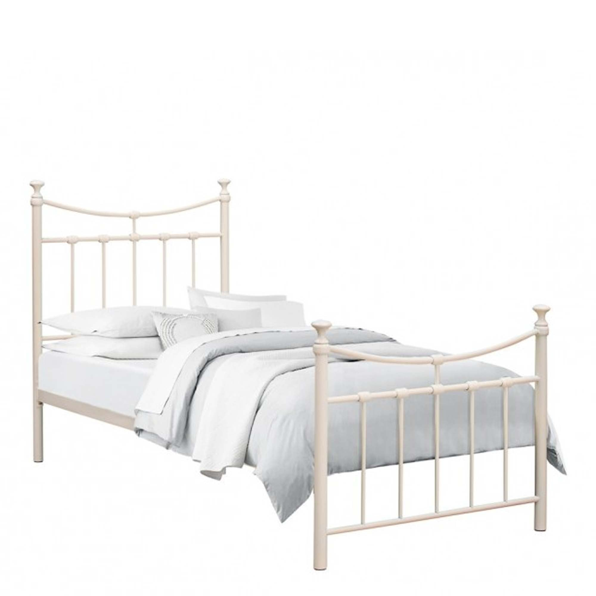 Emily Single 3 0 Metal Bed Frame In Cream Furniture From Delta House And Home Uk