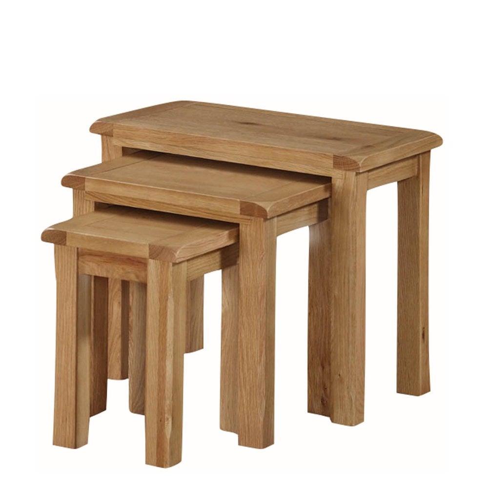 kilmore oak nest of tables furniture from delta house. Black Bedroom Furniture Sets. Home Design Ideas