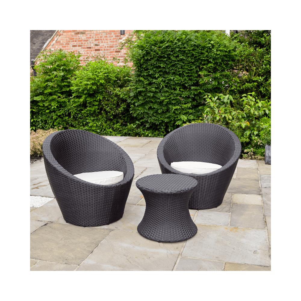 Kingfisher Rattan Effect Table 2 Egg Chairs Bistro Set Eggc