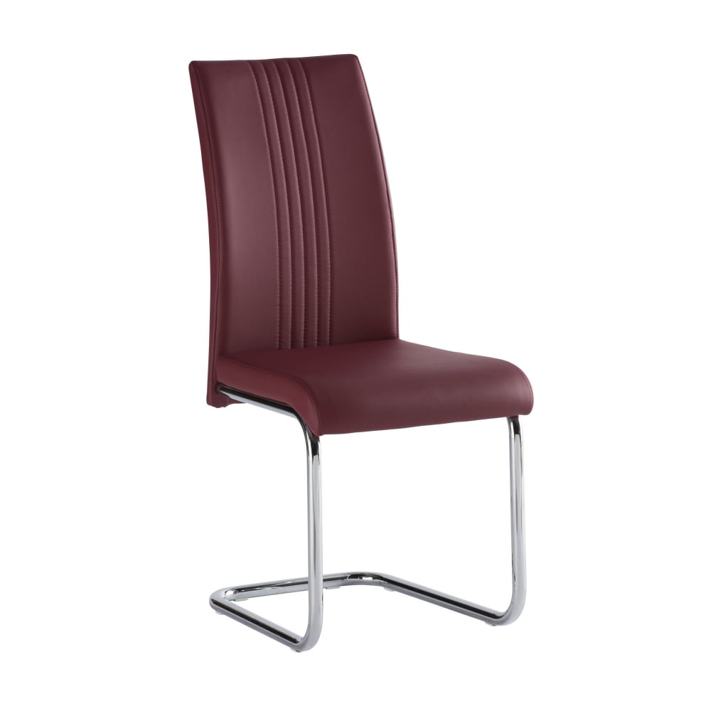 Monaco red dining chair