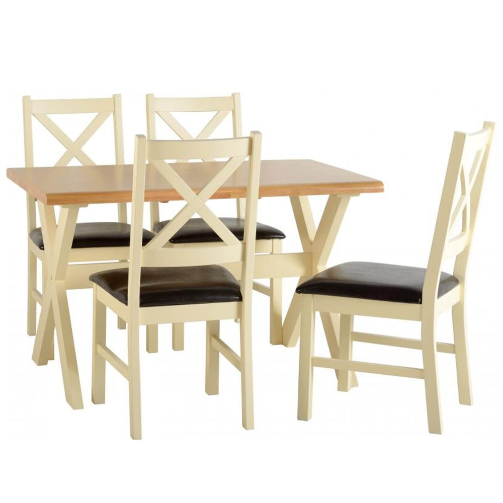 Portland Dining Set With 4 Chairs