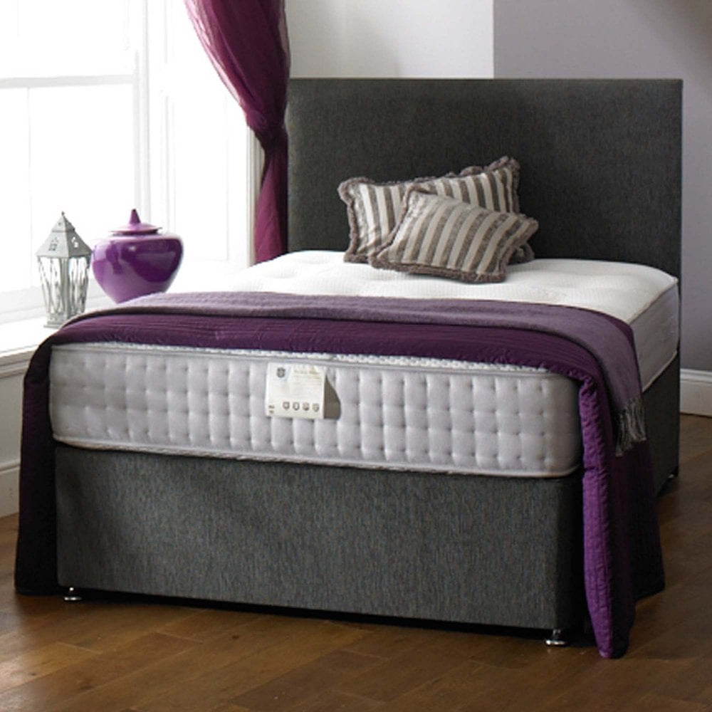 Luxury Orchid Double Divan Bed Package With 2 Drawers Headboard Matching Base Choice Of Colours