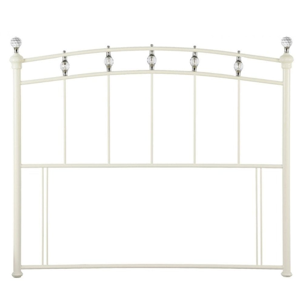 Sophie Metal 4 6 Quot Headboard In White