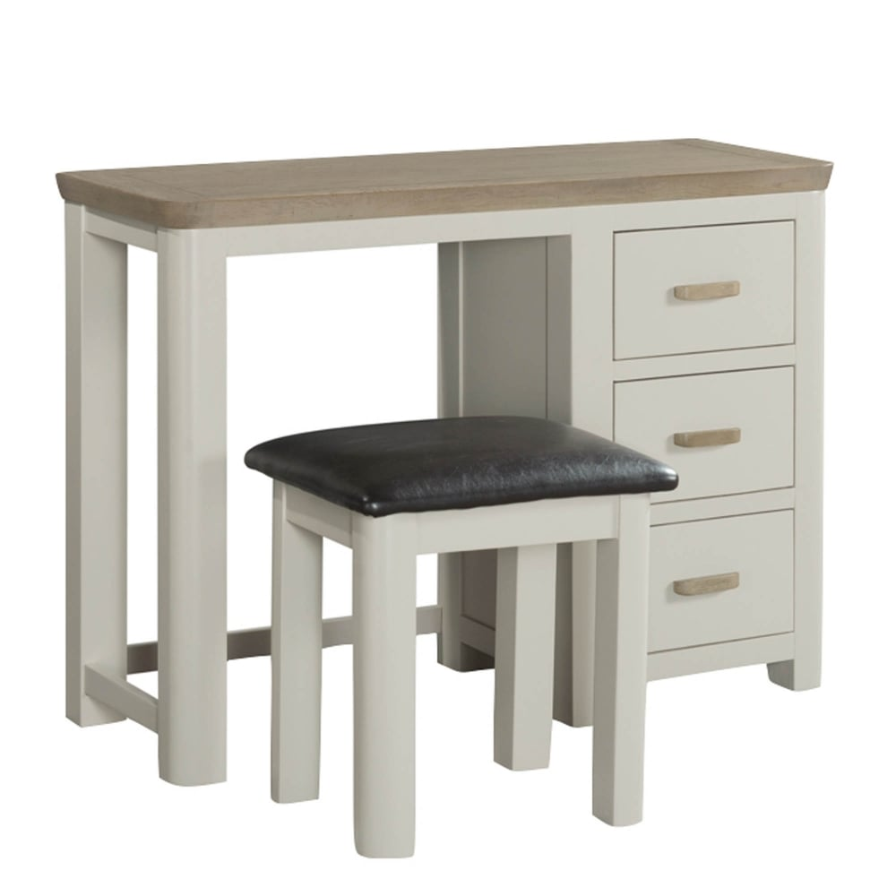 f29884a187b Treviso Painted Dressing Table   Stool with Wooden Handles - Furniture from  Delta House and Home UK